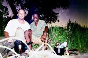 Richard and Jimmie in Botswana